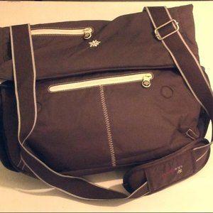 Sherpani Dash Brown Messenger Crossbody Bag